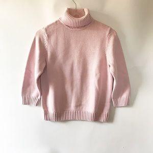 Lauren Ralph Lauren pink turtleneck 3/4 sleeves L